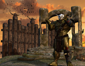 Orc warrior with armor